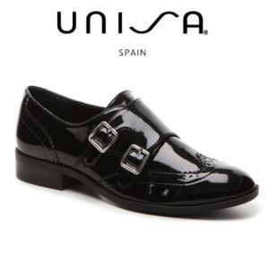 UNISA Oxford Loafer Women's 9 Black Wingtip